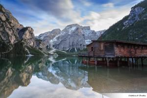 Lago di Braies en Italie dans les dolomites